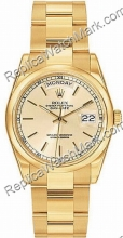 Suíça Rolex Oyster Perpetual Date 18kt Dia-Mens Watch Ouro Amare