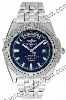Breitling Mens Windrider Headwind Steel Blue Watch A453551-C5-35