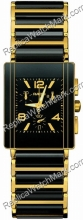 Rado Integral Chronograph 18kt Yellow Gold Black Ceramic Mens Wa