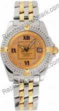 Breitling Windrider Cockpit Lady Diamond 18kt Yellow Gold and St