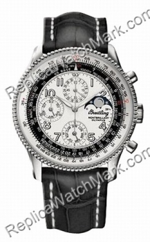 Breitling Navitimer Montbrilliant Olympus Steel Black Mens Watch