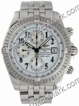 Breitling Windrider Chronomat Evolution Steel White Mens Watch A