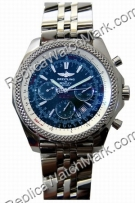 Breitling Bentley Motors Chronograph Steel Blue Mens Watch A2536