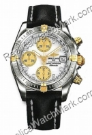 Breitling Chrono Cockpit Windrider Diamond jaune 18 kt Mens Stee