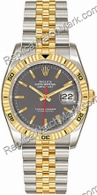 Mens Rolex Oyster Perpetual Datejust dois tons de ouro 18kt e do