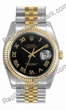 Swiss Rolex Oyster Perpetual Datejust Mens Watch 116233-BKSBRJ