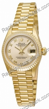 Rolex Oyster Perpetual Lady Datejust 18kt Gold Ladies Watch 7917