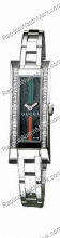 Gucci 110 G-Link Black Patterned 36 Diamond Ladies Watch YA11051