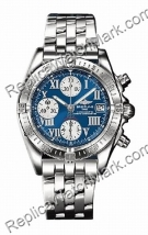 Breitling Chrono acier Windrider Mens Cockpit Blue Watch A133581