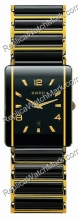 Rado Integral 18kt Yellow Gold Mens Black Ceramic Watch R2028219