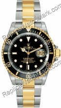 Swiss Rolex Oyster Perpetual Submariner Date Mens Steel Two-Tone