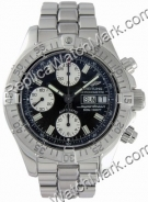 Breitling Aeromarine Chrono acier Mens Superocean Black Watch A1