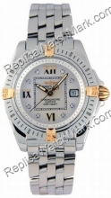 Breitling Windrider Cockpit Lady Diamond 18kt Gelbgold Steel Dam