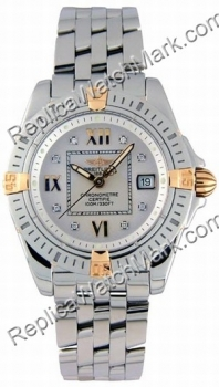 Breitling Windrider Diamond Senhora Cockpit 18kt Yellow Gold Ste