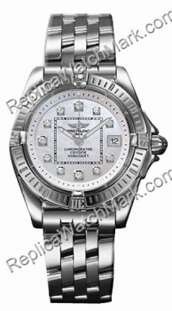 Breitling Windrider Cockpit Lady Diamond Mother-of-pearl Steel L