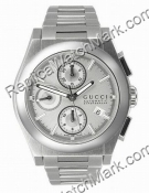 Gucci 115 Pantheon Silver Chronograph Mens Watch YA115206