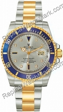 Swiss Rolex Oyster Perpetual Submariner Date Mens Watch 16613-GY