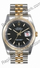 Swiss Rolex Oyster Perpetual Datejust Mens Watch 116233-BKSJ