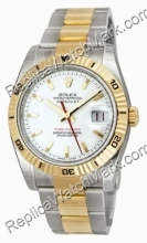 Hommes suisse Rolex Oyster Perpetual Datejust Two-Tone Watch 116
