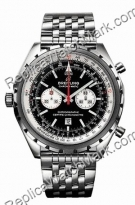 Breitling Navitimer Chrono-matic Steel Black Watch Mens A4136012