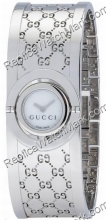 Gucci TWIRL donna tono argento con GG Design Watch Band e Bianco