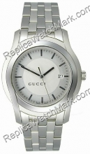 Gucci 5505 Stainless Steel Silver-Tone Mens Watch YA055212