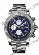 Breitling Aeromarine Chrono acier Mens Superocean Blue Watch A13