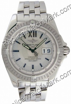 Breitling Windrider Cockpit Steel Mens Watch A4935011-G5-361A