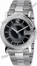 G-Gucci Watch 101G Mens Steel Black Watch YA101305