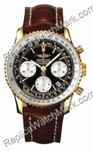Breitling Navitimer Amarillo 18kt Hombres Brown Gold Watch K2332