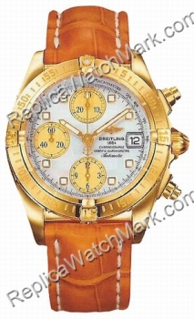 Breitling Chrono Cockpit Windrider 18 kt or jaune Mens Watch K13