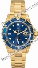 Swiss Rolex Oyster Perpetual Submariner Date Mens 18kt Gold Watc