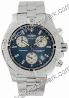 Breitling Chrono Mens Aeromarine Colt Blue Steel Watch A7338011-