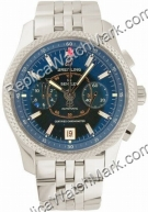 Breitling Bentley Mark VI Mens Steel Blue Platinum Watch P263621