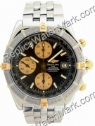 Breitling Windrider Crosswind 18kt Yellow Gold Steel Black Mens