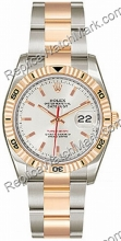 Swiss Rolex Oyster Perpetual Datejust Two-Tone 18kt Pink Gold an
