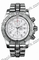 Breitling Avenger Aeromarine Super Homem Diamond White Steel Wat