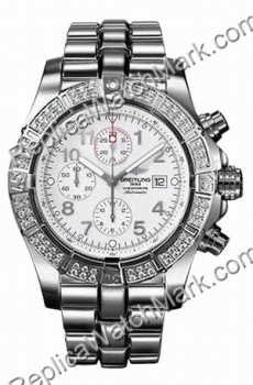Breitling Aeromarine Super Avenger Diamond Steel White Mens Watc
