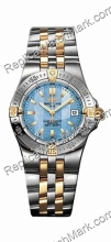 Breitling Windrider Starliner 18kt Gelbgold Steel Blue Mother-of