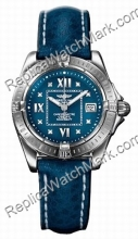 Breitling Cockpit Windrider Ladies Diamond Lady Blue Watch A7135