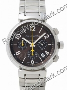 Replica Louis Vuitton Watch black dial with stainless steel band