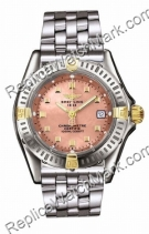Breitling Windrider Callistino 18kt Gelbgold Steel Pink Mother-o