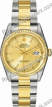 Mens Datejust Rolex Oyster Perpetual Two-Tone oro 18kt e Steel W