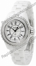 Chanel J12 Diamonds Ladies Black Ceramic Watch H1625