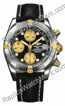 Breitling Windrider Chrono Cockpit 18kt Yellow Gold Steel Black