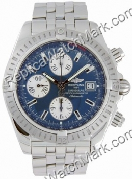 Breitling Windrider Chronomat Evolution Steel Blue Mens Watch A1