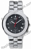 Rado DiaMaster Black Chronograph/Tachymeter Midsize Mens Watch R