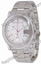 Gucci 101 G-ronde Mens Chronograph Blanc Watch YA101339