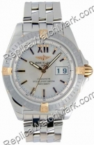 Breitling Cockpit Windrider jaune 18 kt Mens Steel Gold Watch B4