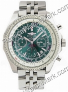 Breitling Bentley GT Mens Green Steel Chronograph Watch A1336212